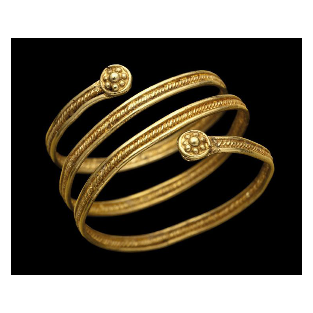 Etruscan Coil Ring with Rosettes