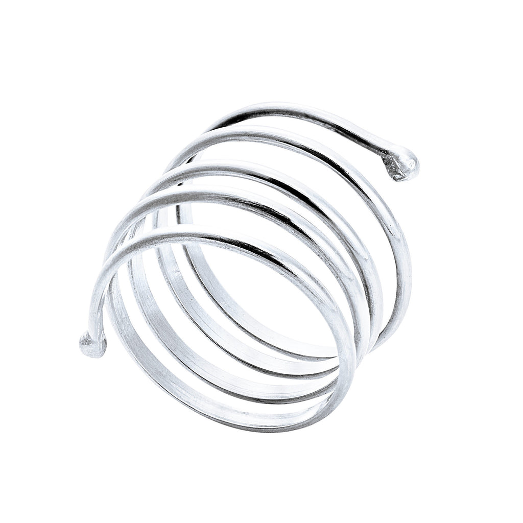 White Gold Large Coil Ring