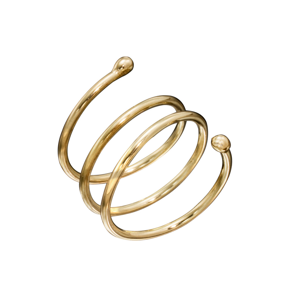 Yellow Gold Coil Ring