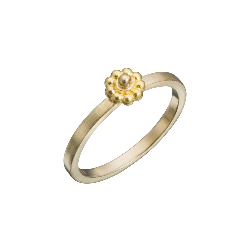 Yellow Gold Slim Rosette Ring