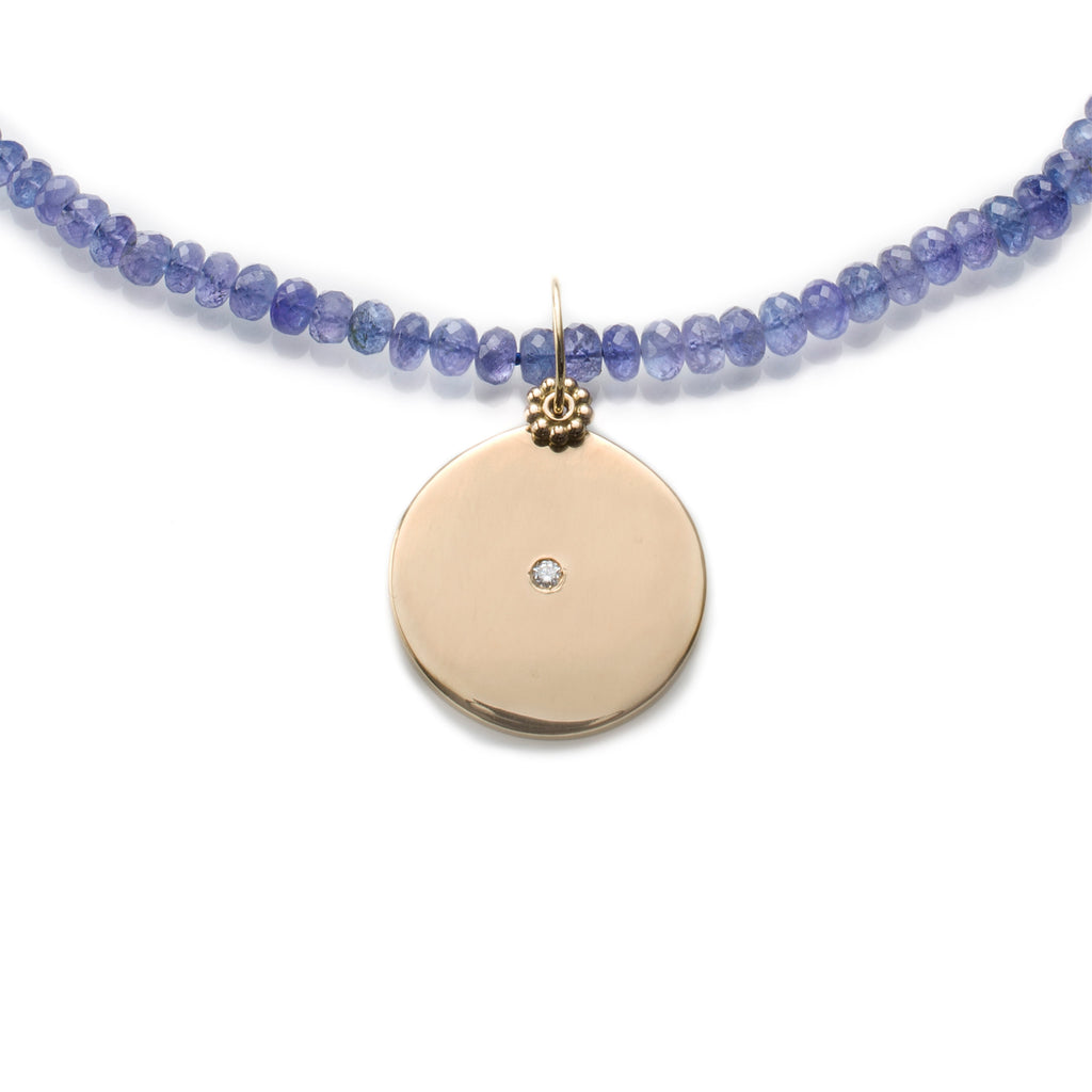 Tanzanite Sun Charm Necklace