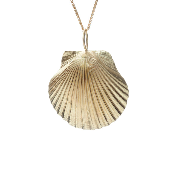 Yellow Gold Petite Shell Necklace