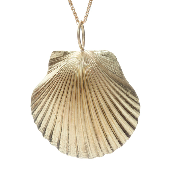Yellow Gold Shell Necklace