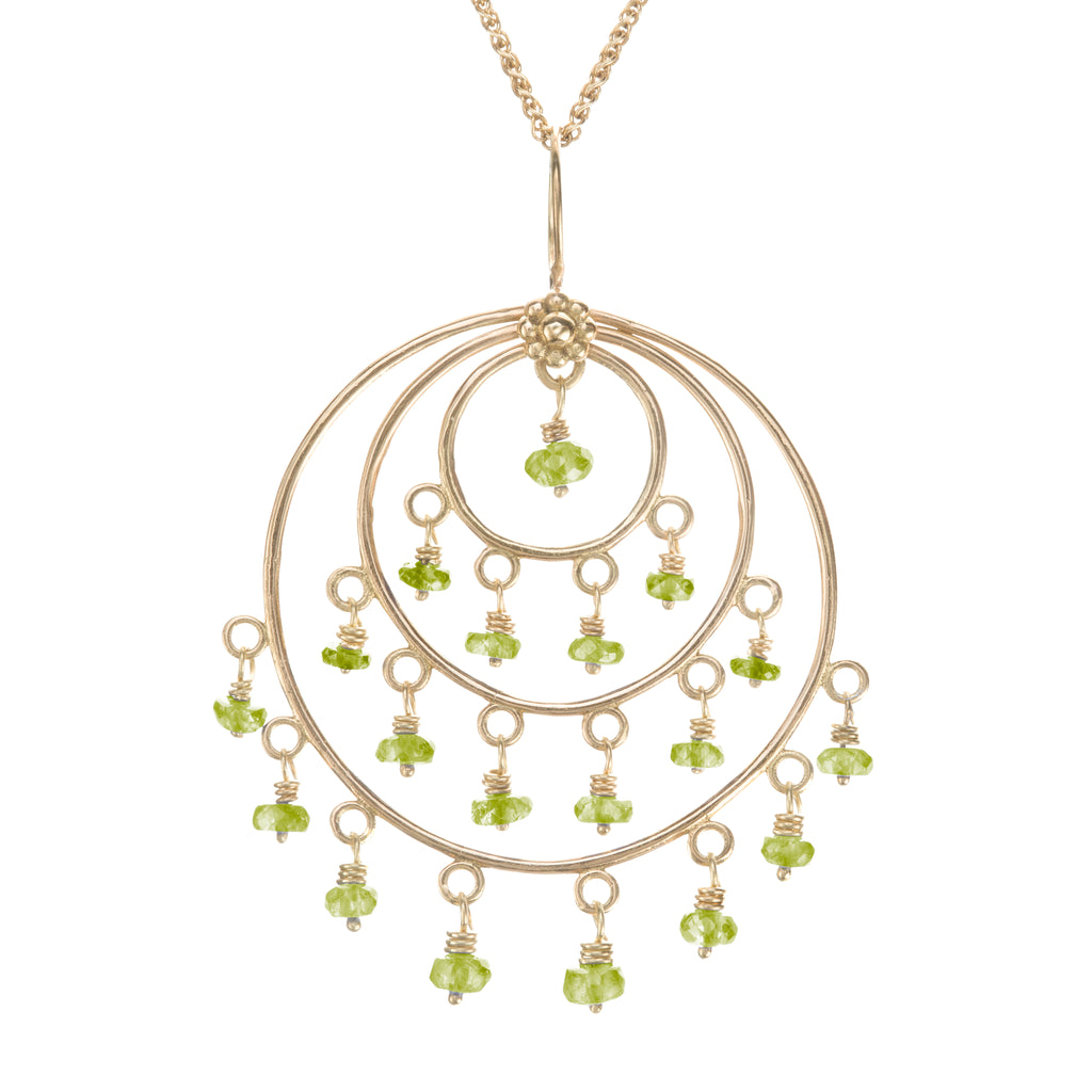 Peridot & Yellow Gold Roxanne St Tropez Necklace