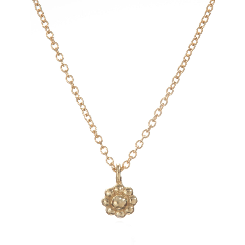 Yellow Gold Rosette Necklace