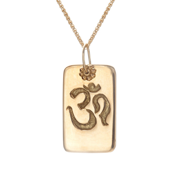 Yellow Gold Om Necklace