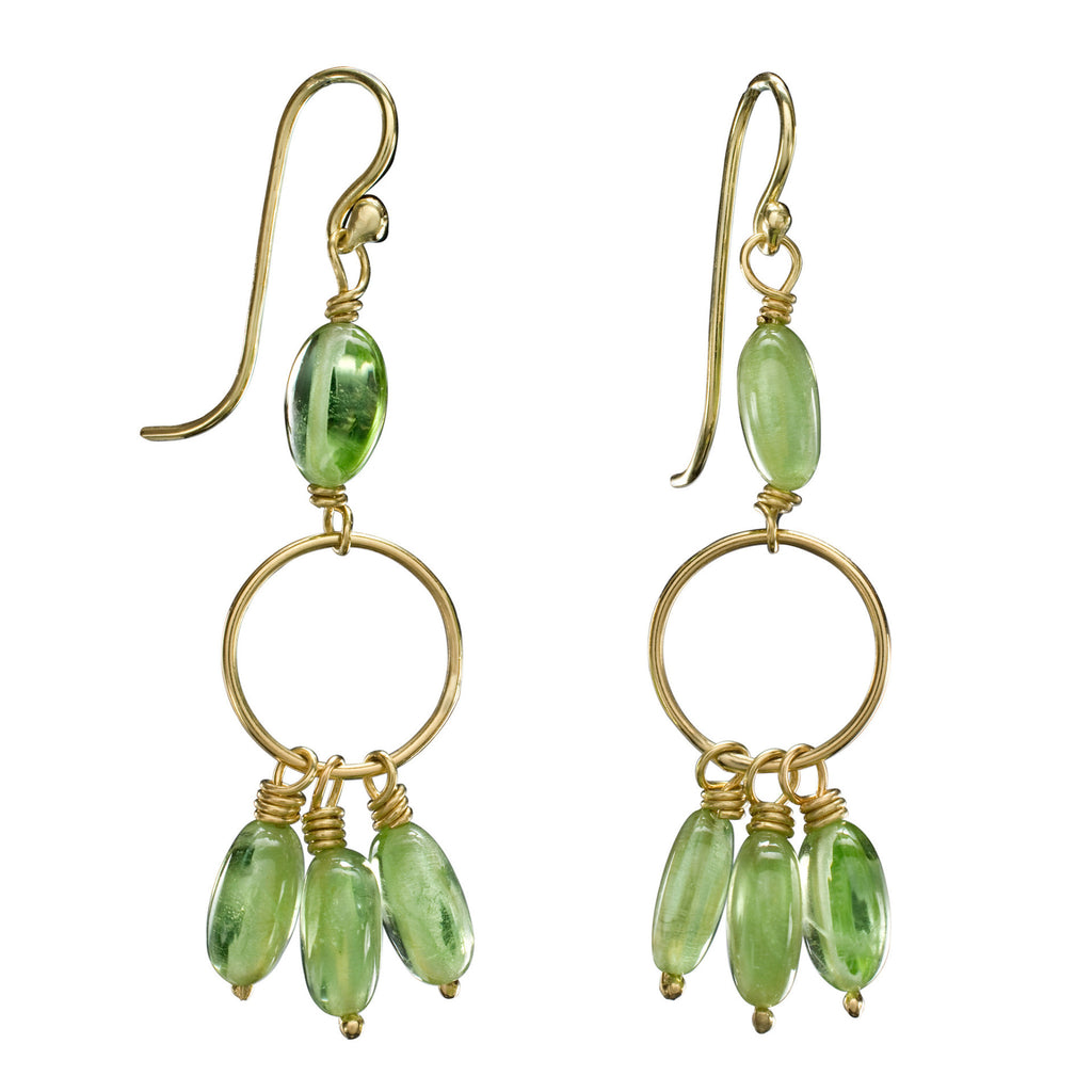 Peridot & Yellow Gold Jan Earrings