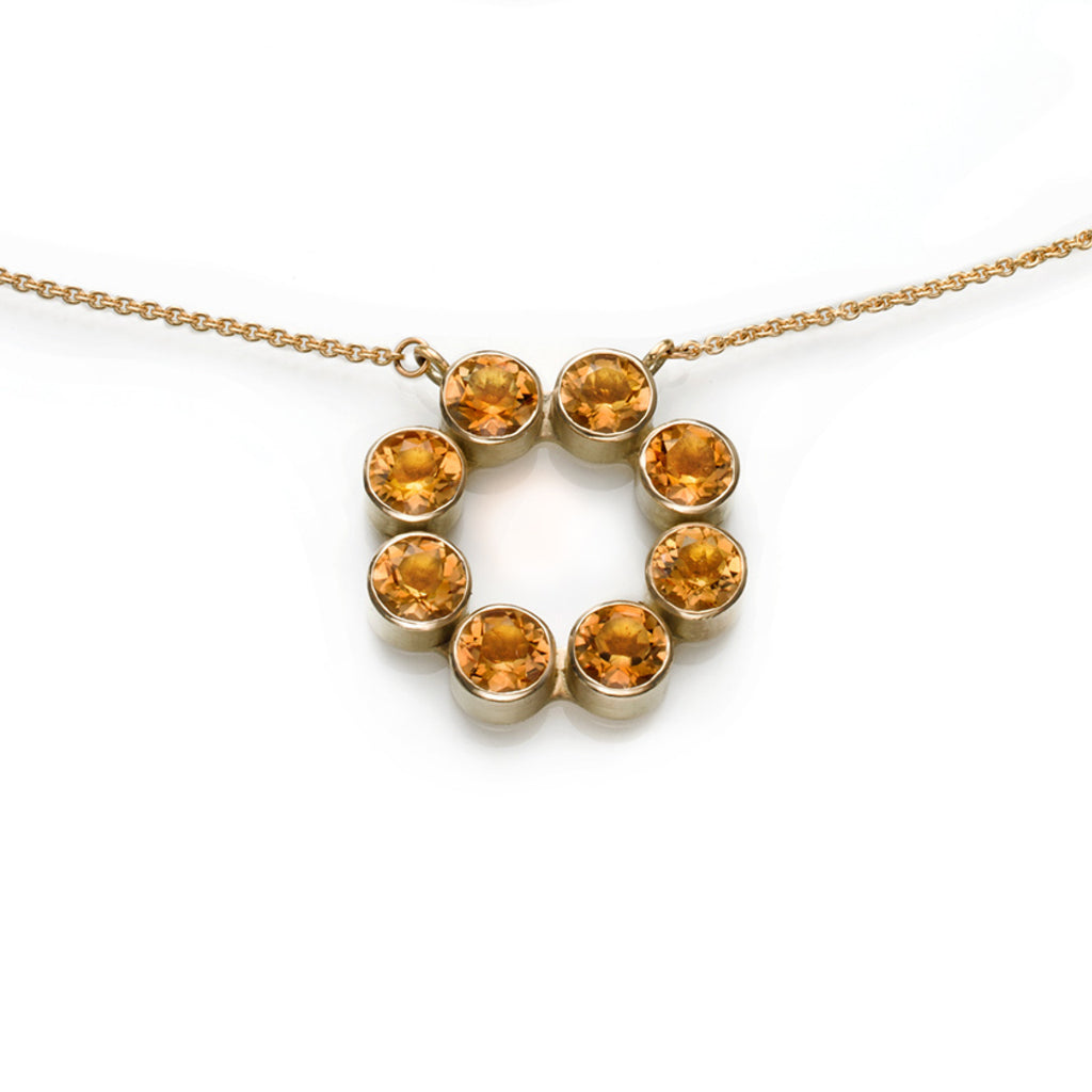Citrine & Yellow Gold Adele Necklace