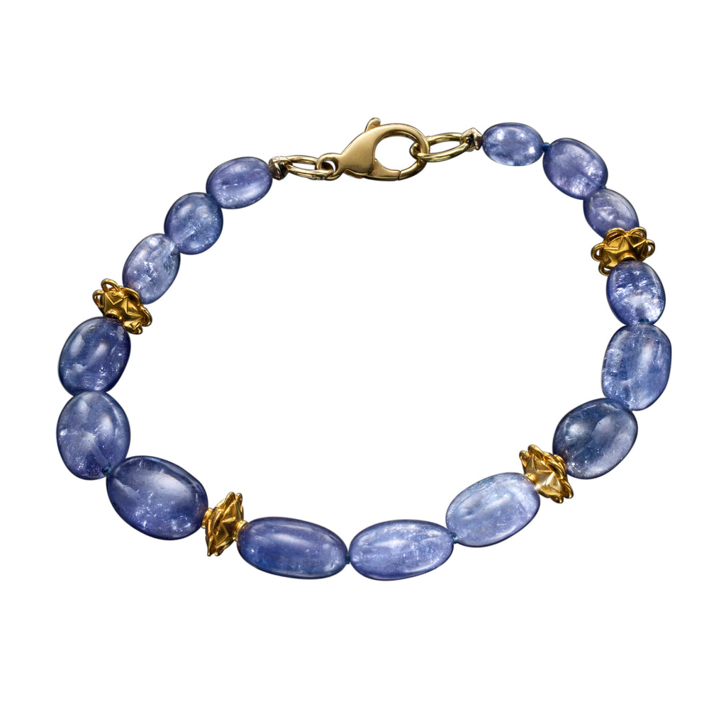 Tanzanite & Yellow Gold Azure Bracelet