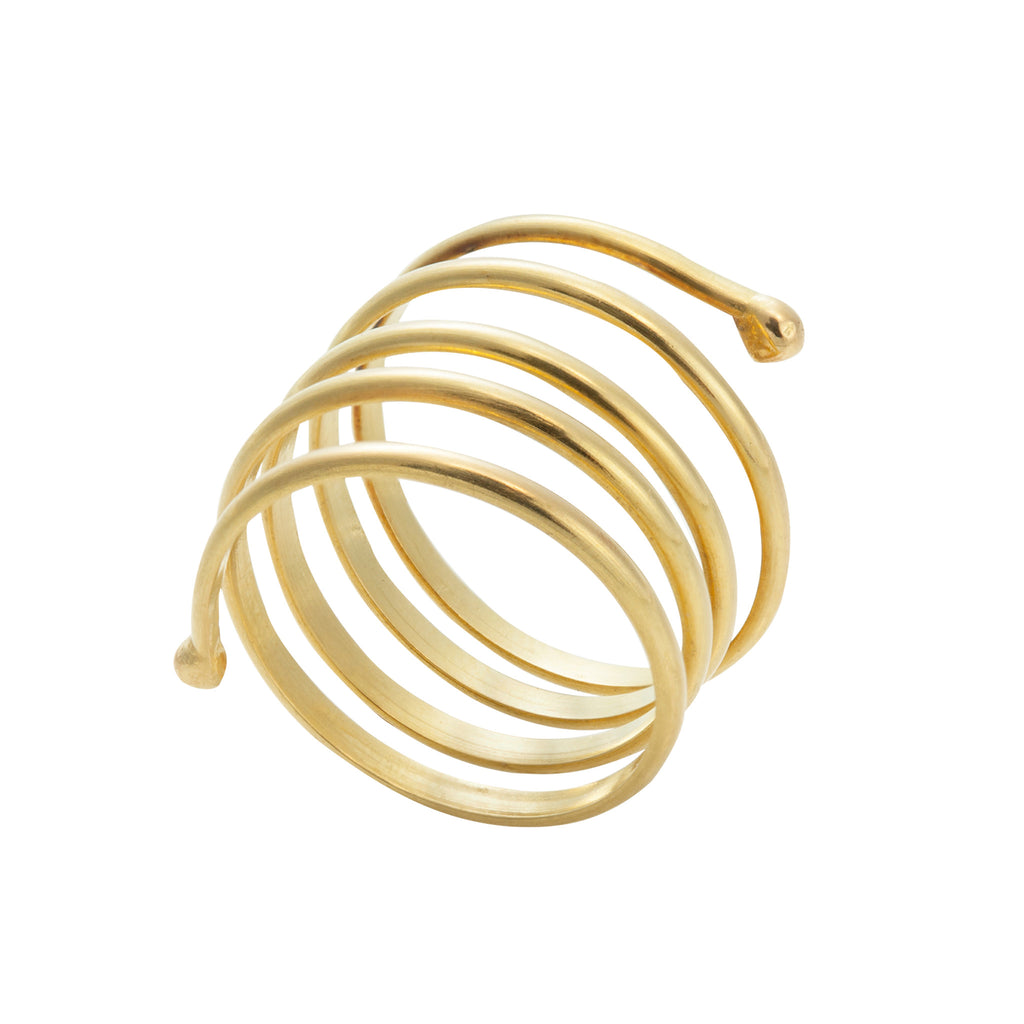 Yellow Gold Large Coil Ring