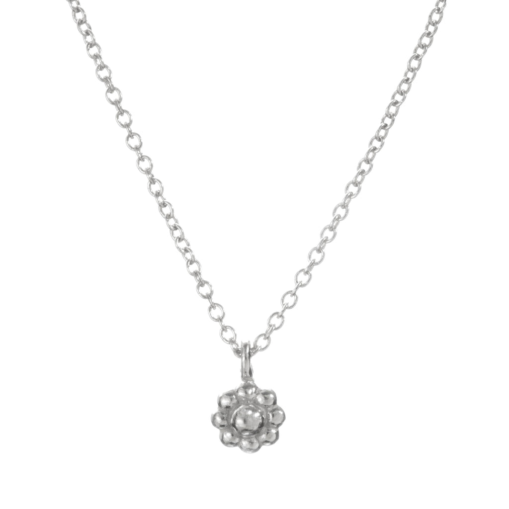 Silver Rosette Necklace