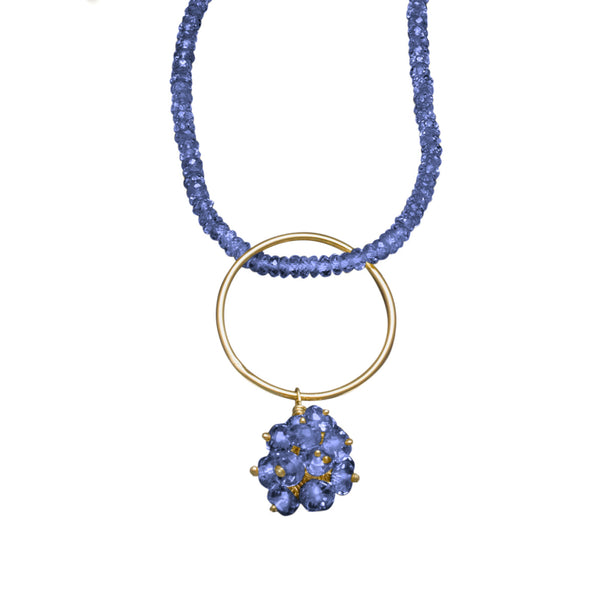Tanzanite Litchie Necklace