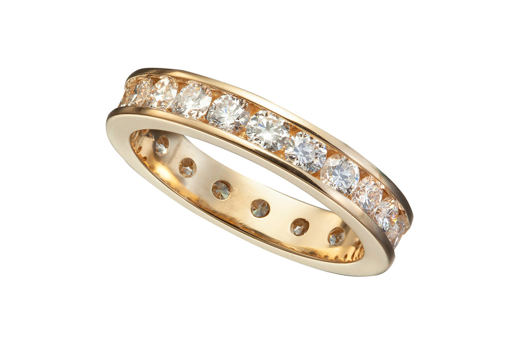 Eternity Band with Channel Set Diamonds