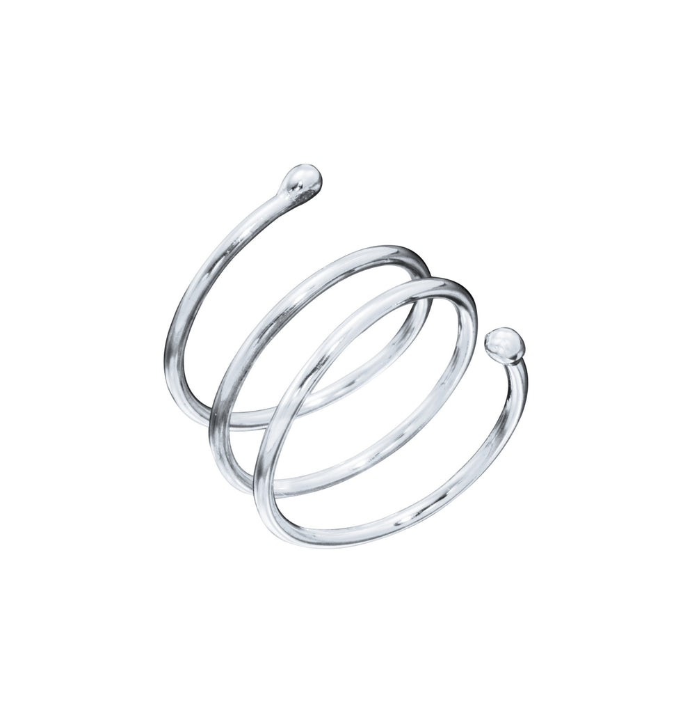 White Gold Coil Ring