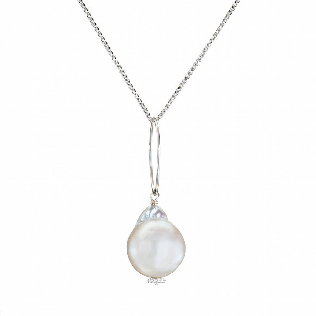 South Sea Pearl Necklace in 18K White Gold