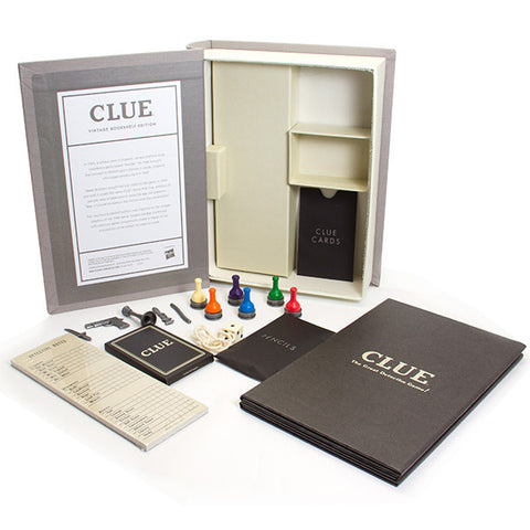 Clue Board Game Vintage Bookshelf Edition