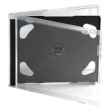 CD Jewel Case Pack - Black Tray (Double)