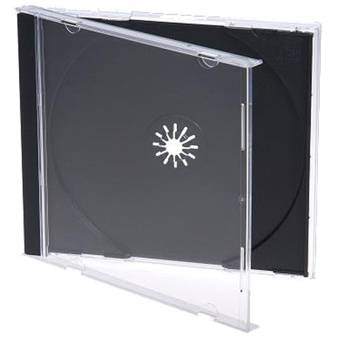 CD Jewel Case - Black Tray (Single)