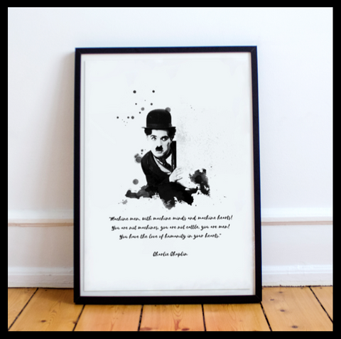 The Charlie Chaplin Range #1 - With Quote
