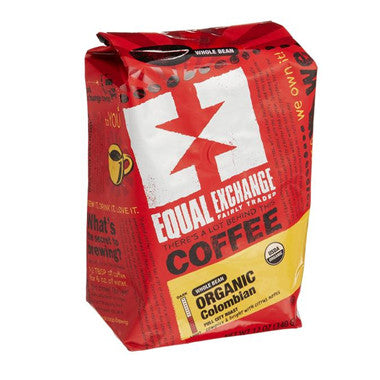 Equal Exchange Coffee, Organic Colombian, Whole Bean,12-Ounce Bags