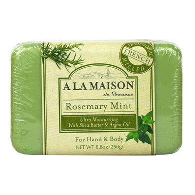 A La Maison Solid Bar Soap, Rosemary Mint, 8.8 Ounce