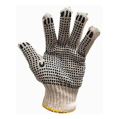 24 PAIRS Dotted Working Gloves Cotton/Poly/Latex Premium Quality