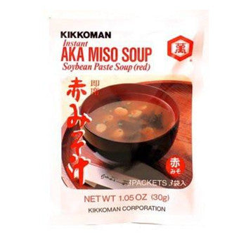 Kikkoman Instant AKA Red Miso Soup (9 Pockets) - 3.15 Oz - in 3 Bags