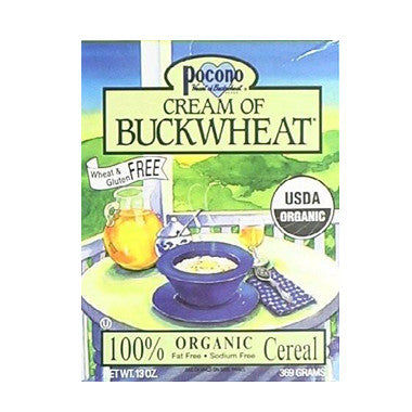 Pocono Cream of Buckwheat, 100% Organic Cereal, 13 oz