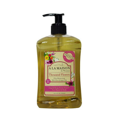 A La Maison Liquid Soap, Thousand Flowers, 16.9 Fluid Ounce