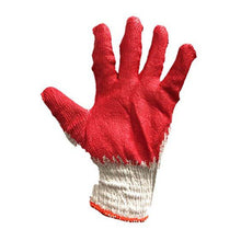 30 PAIRS Red Working Gloves Cotton/Poly/Latex Premium Quality