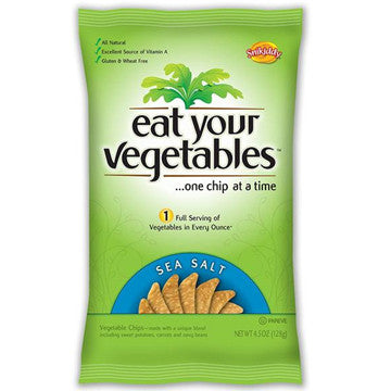 Eat Your Vegetables Sea Salt Veggie Chips, 4.5 Ounce