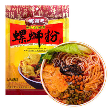 Luobawang Luosi Rice Noodles (3 Packs). 螺霸王柳州螺蛳粉 280g(3包装), 煮粉,3袋包邮!