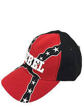 Rebel Embroidery Snapback Hats Sports Team Baseball Adjustable Size Caps, Multiple Colors