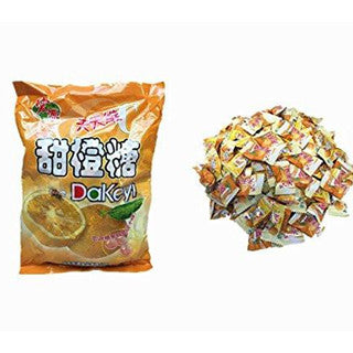 Hongyuan Chinese Classic Orange Hard Candy - 12.3 Oz 130pcs