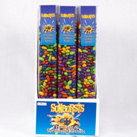 SunBursts Chocolate Covered Sunflower Seeds Regular Mix - 3 oz Tubes (24 Pack)