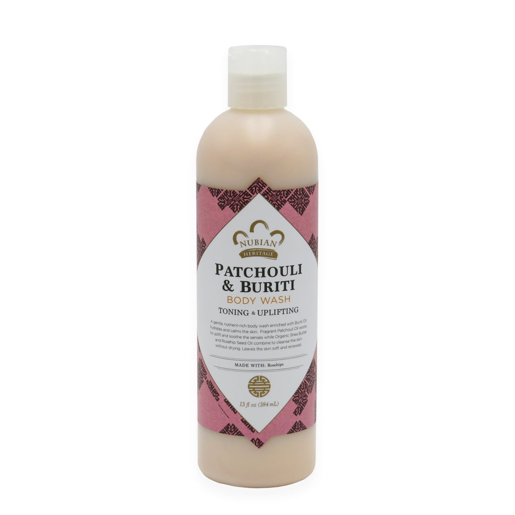 Nubian Heritage, Patchouli & Buriti Body Wash, 13 fl oz (384 ml)