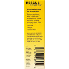 Bach Rescue Remedy Original Natural Stress Relief Flower Essence, Dropper,