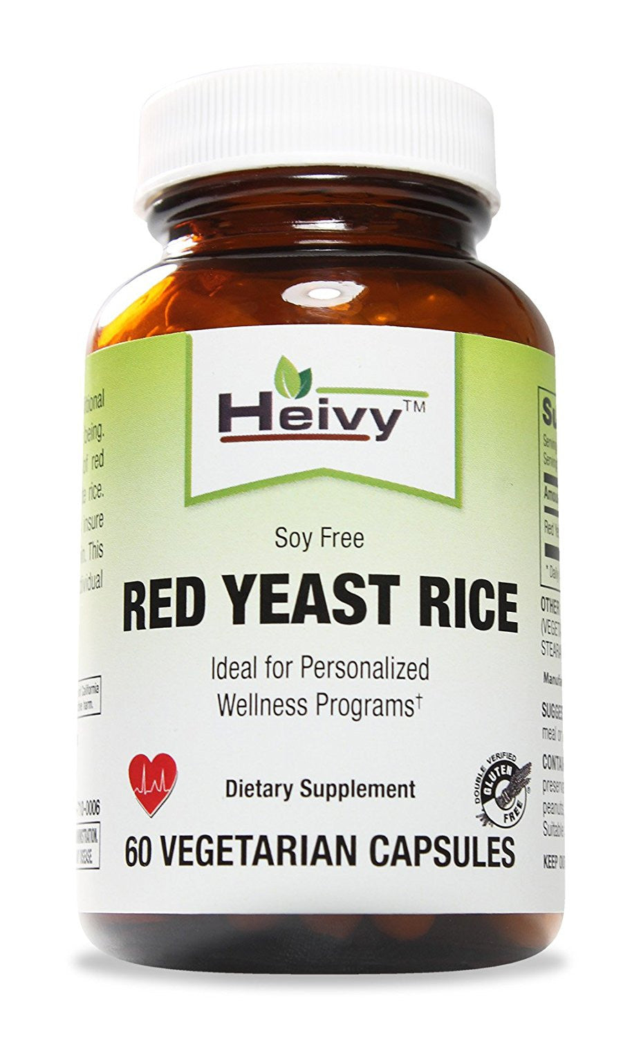 Red Yeast Rice, Soy Free, 60 Veg Caps