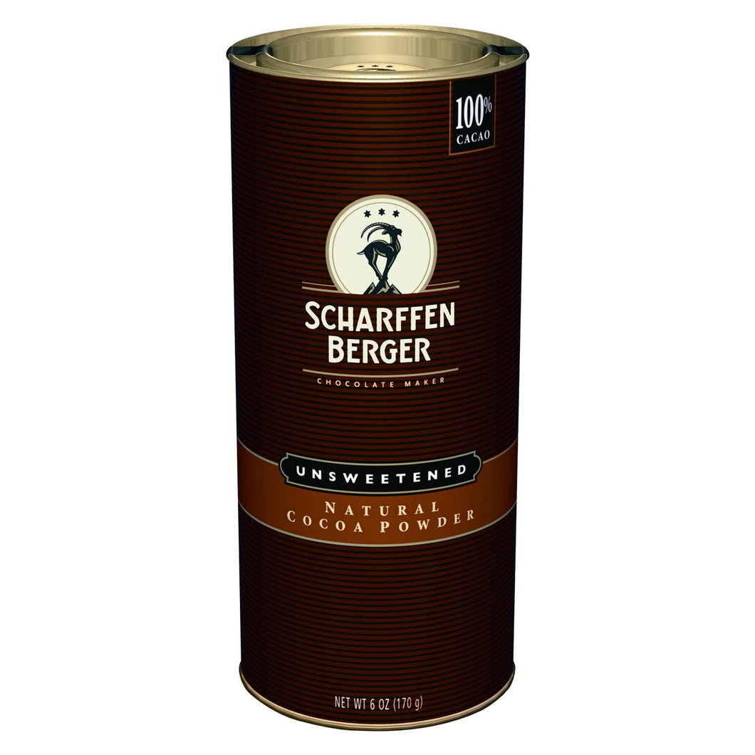 Scharffen Berger Natural Unsweetened Cocoa Powder, 6 Ounce Canister
