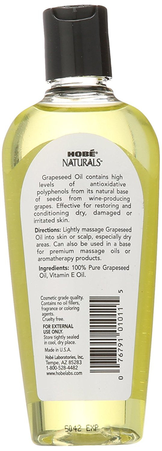 Hobe Labs, Naturals, Grapeseed Oil, 4 fl oz (118 ml)