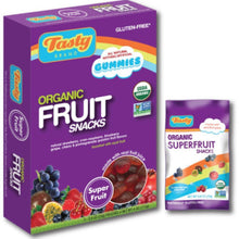 Tasty Brand Organic Fruit Snacks, Sport Fruit Flavors, 5 Count Package