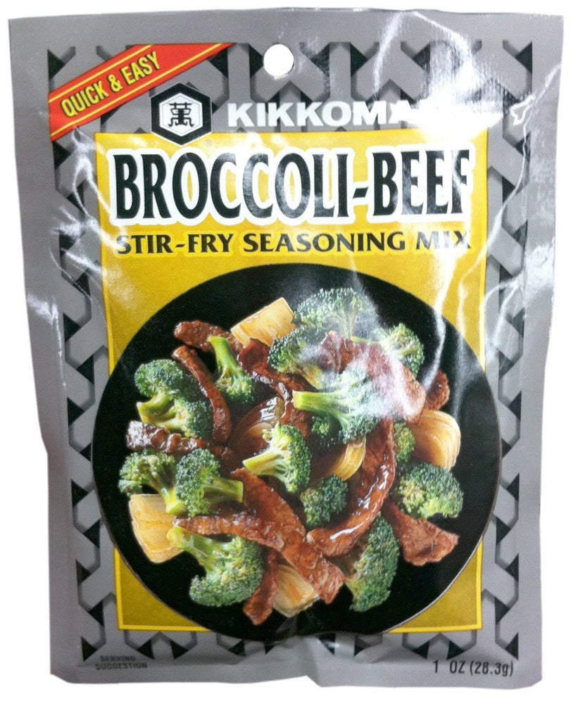KIKKOMAN MIX SSNNG BROCCOLI BEEF, 1 OZ,(Pack of 6)