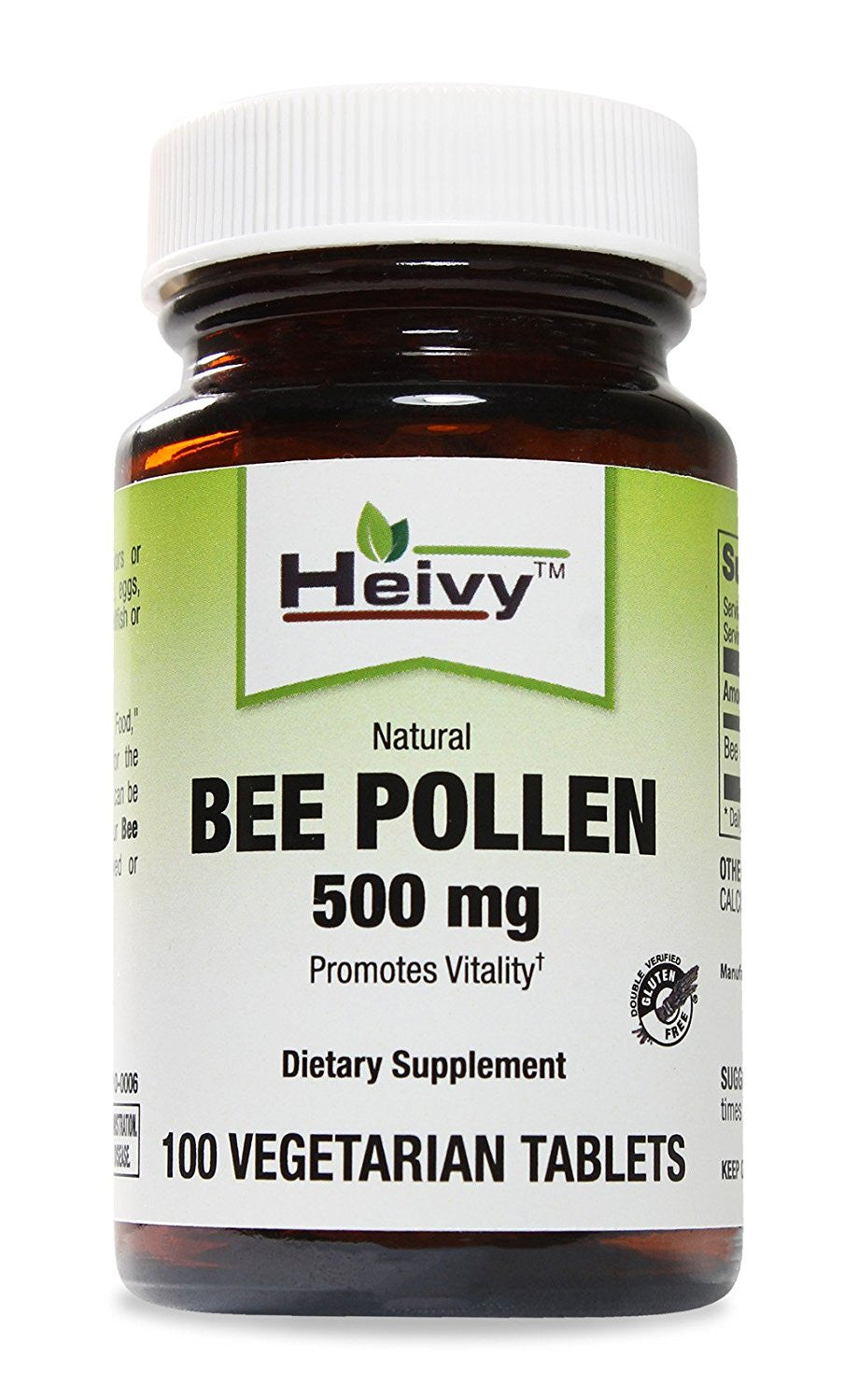 Natural Bee Pollen 500 mg, 100 Veg Tabs