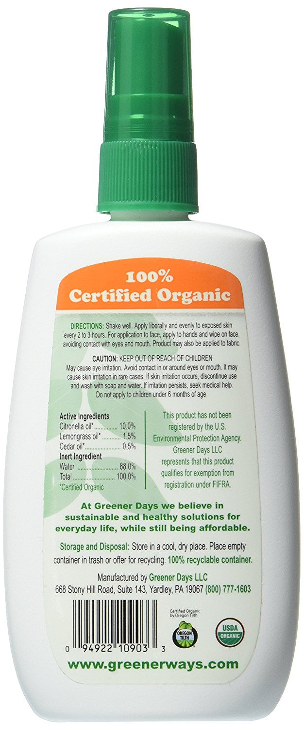 Greenerways Organic Bug Spray