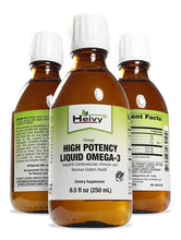 High Potency Liquid Omega-3, Support Cardiovascular, Immune, and Nervous System Health, Natural Orange Flavor, 8.5-Fluid Ounces