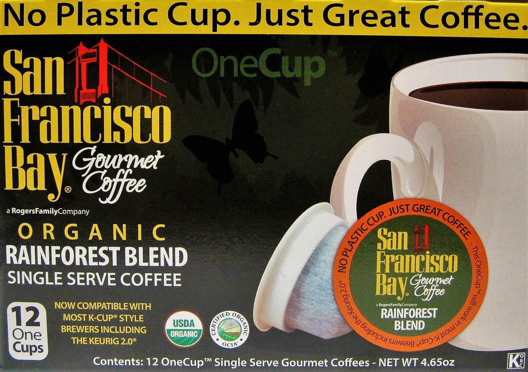 San Francisco Bay Premium Gourmet Coffee Rainforest Blend -- 12 Cups
