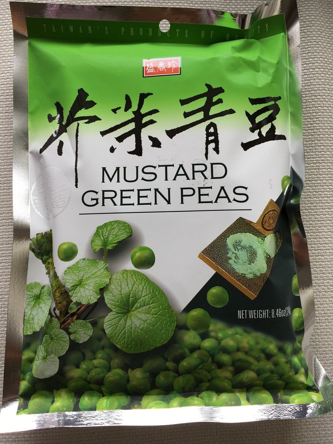 Shengxiangzhen Mustard Green Peas 8.46oz (Pack of 1)