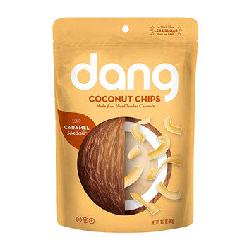 Dang Family Size Vegan Gluten Free Coconut Chips, Caramel Sea Salt, 4 Count