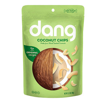 Dang Gluten Free Toasted Coconut Chips, Original, 3.17 Ounce Bags
