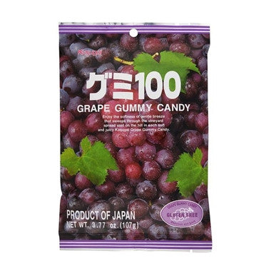 Kasugai Grape Gummy Candy 3.77oz